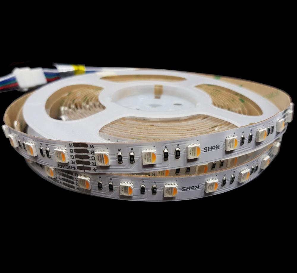 RGB світлодіодна стрічка 4 канала 17.6Вт 24вольт 5050-60-IP20-RGB/WW-12-24 RD0260AC-A 12696і