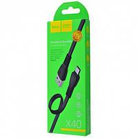 Кабель Hoco X40 Noah Micro USB Cable (1m) black, фото 1