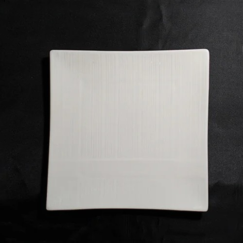 Тарілка квадратна тиснена порцелянова HLS Extra white 160х160 мм (W0140)