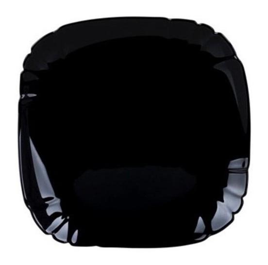 Набор 6 десертных тарелок Luminarc Lotusia Black Ø21см, стеклокерамика