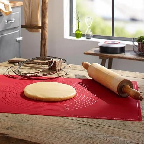 Коврик силиконовый для раскатки и выпечки теста  49.5*39.5*0.1 см