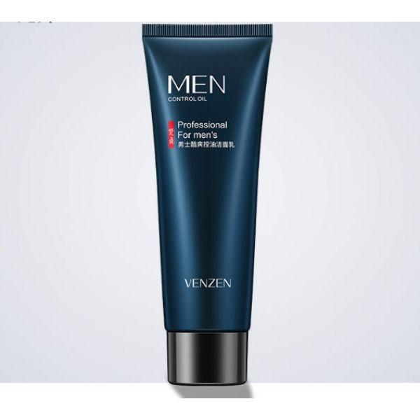 Мужская очищающая пенка для умывания Venzen Men's cool oil control cleanser с охлаждающим эффектом 80 гр