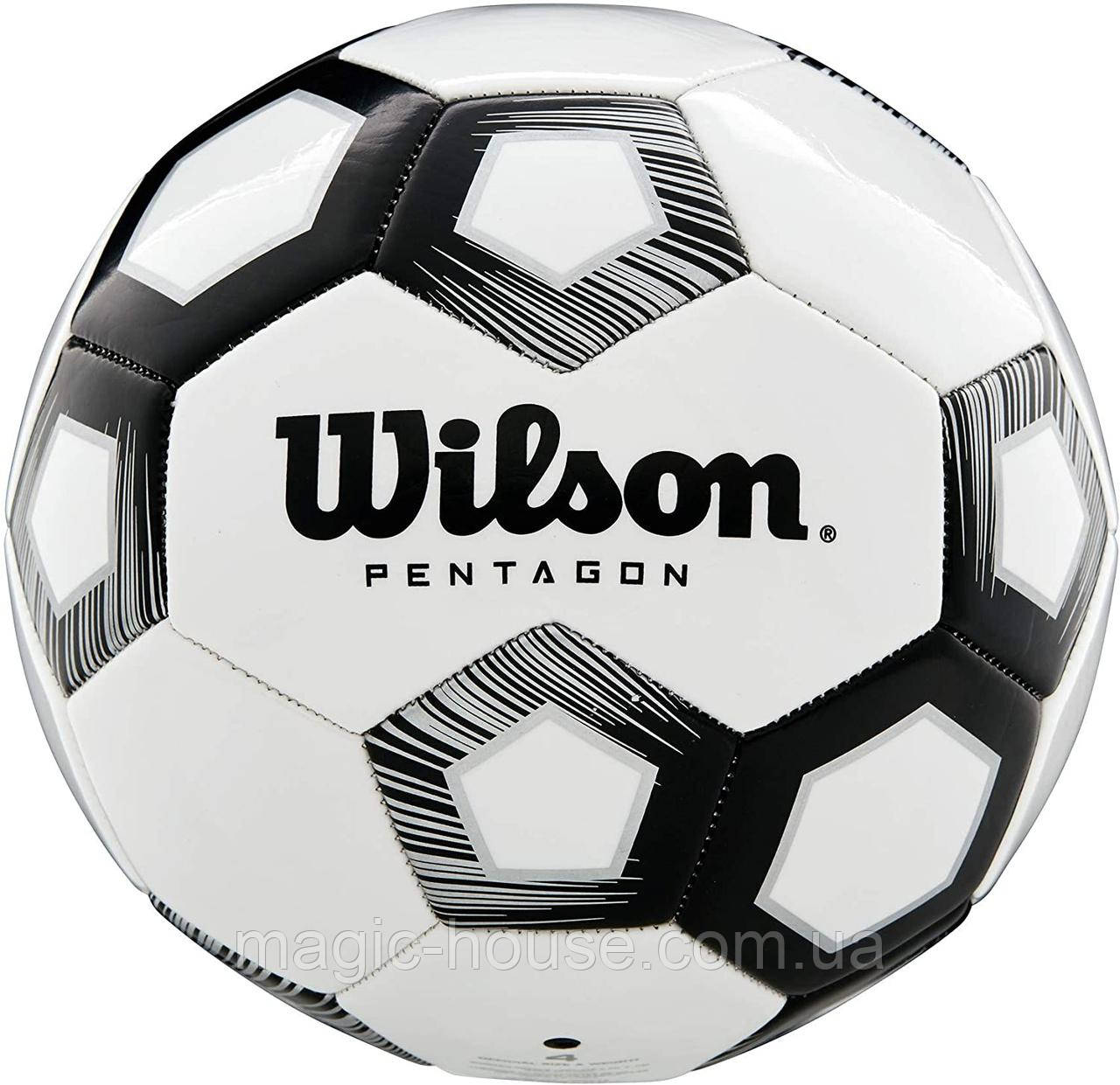 М'яч футбольний ігровий Wilson Pentagon Soccer Ball розмір 5