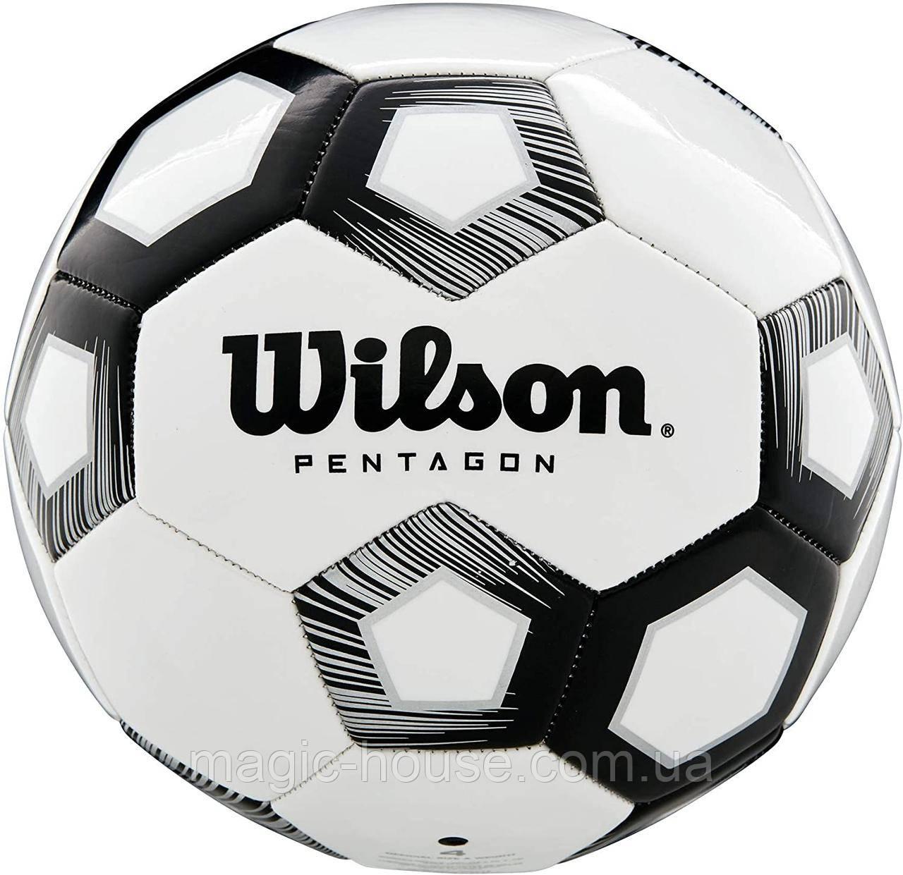 Мяч футбольный игровой Wilson Pentagon Soccer Ball размер 5