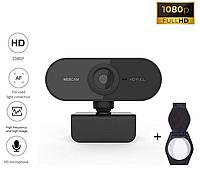 Веб-камера Full HD 1080p (1920x1080) с встроенным микрофоном вебкамера c автофокусом для ПК компьютера UTM