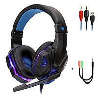 Игровые стерео наушники 7.1 Surround проводная геймерская гарнитура с микрофоном для ПК компьютера PS4 Xbox