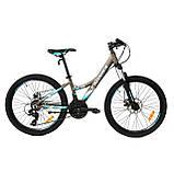 Велосипед горный алюминий Crosser Nio Stels 24*12,5, фото 2