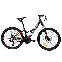 Велосипед двухколесный подростковый горный алюминий Crosser Nio Stels 24