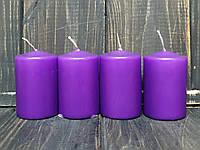 Набор свечей цилиндр d4 h6 см фиолетовые