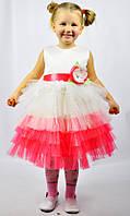 Платье нарядное с коралловым цветком
