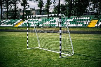 Футбольні ворота RomiSport 300x200x90 см + сітка Польща