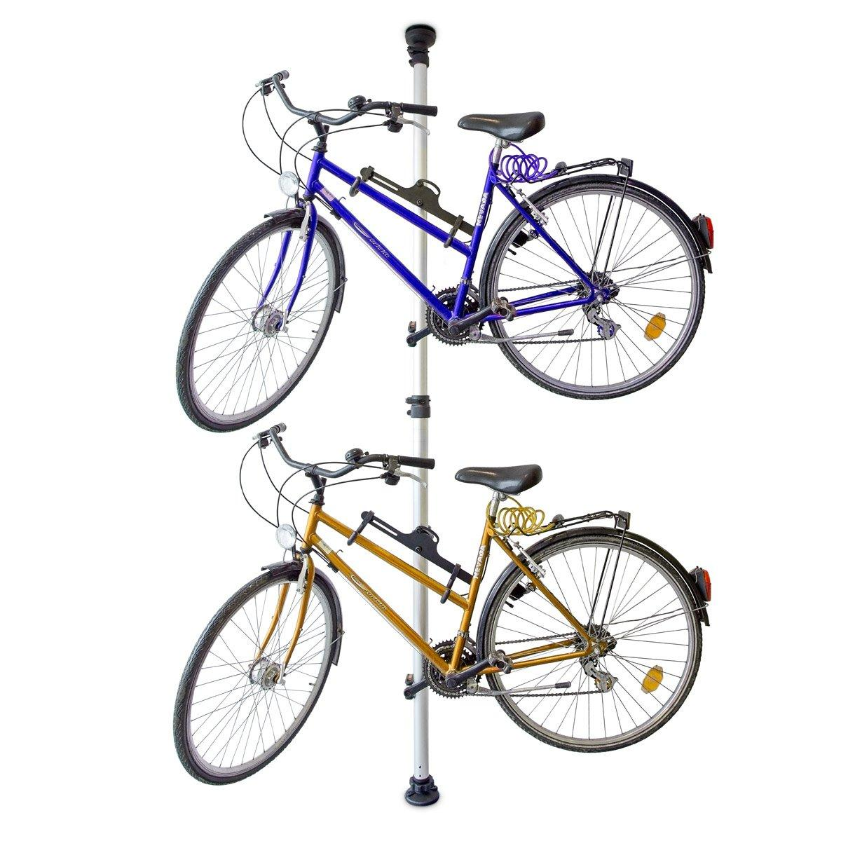 Телескопическая стойка-вешалка для 2-х велосипедов
