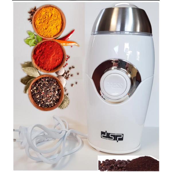 Кофемолка DSP КА3002 чаша и лезвия из нержавеющей стали