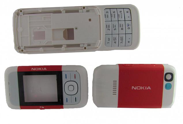 Корпус для Nokia 5200 красный, фото 2