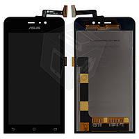 Дисплейный модуль (дисплей + сенсор) для Asus ZenFone 4 A450CG, черный, оригинал