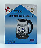 Стекло электрического чайник  (цветок) DOMOTEC DT-820 BLACK  FLOWER (12шт)