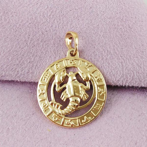Знак зодіаку Xuping Рак медичне золото позолота 18К А/В 5-0095/7