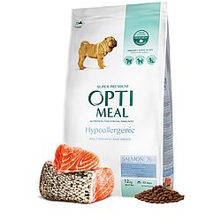 Корм Optimeal Hypoallergenic Medium & Maxi для середніх та великих порід з лососем 12 кг