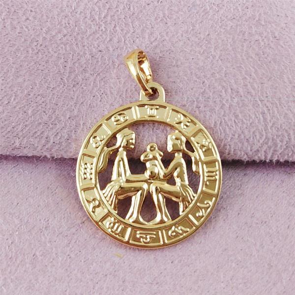 Знак зодиака Xuping Jewelry Близнецы медицинское золото позолота 18К А/В 5-0095/9