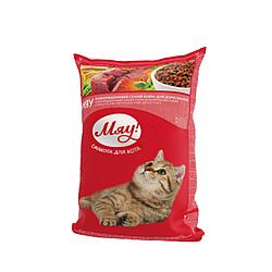 Корм Мяу повнораціонний  індичка та садова трава для дорослих котів 14 кг