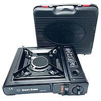 Портативна газова плита-обігрівач з керамічним пальником (ІК) з перехідником