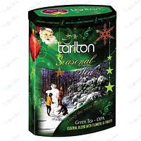 Чай Тарлтон зеленый Снеговичок  200 гр(музыкальная шкатулка)