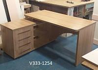 Угловой компьютерый стол с тумбой Модель V333/2 дуб сонома, фото 1