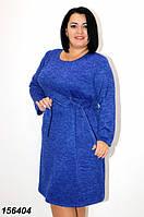 Платье синее женское ангора,зима 2021 48-56 р, фото 1
