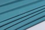 Поплін однотонний колір порошно-бірюзовий (№3055), фото 2