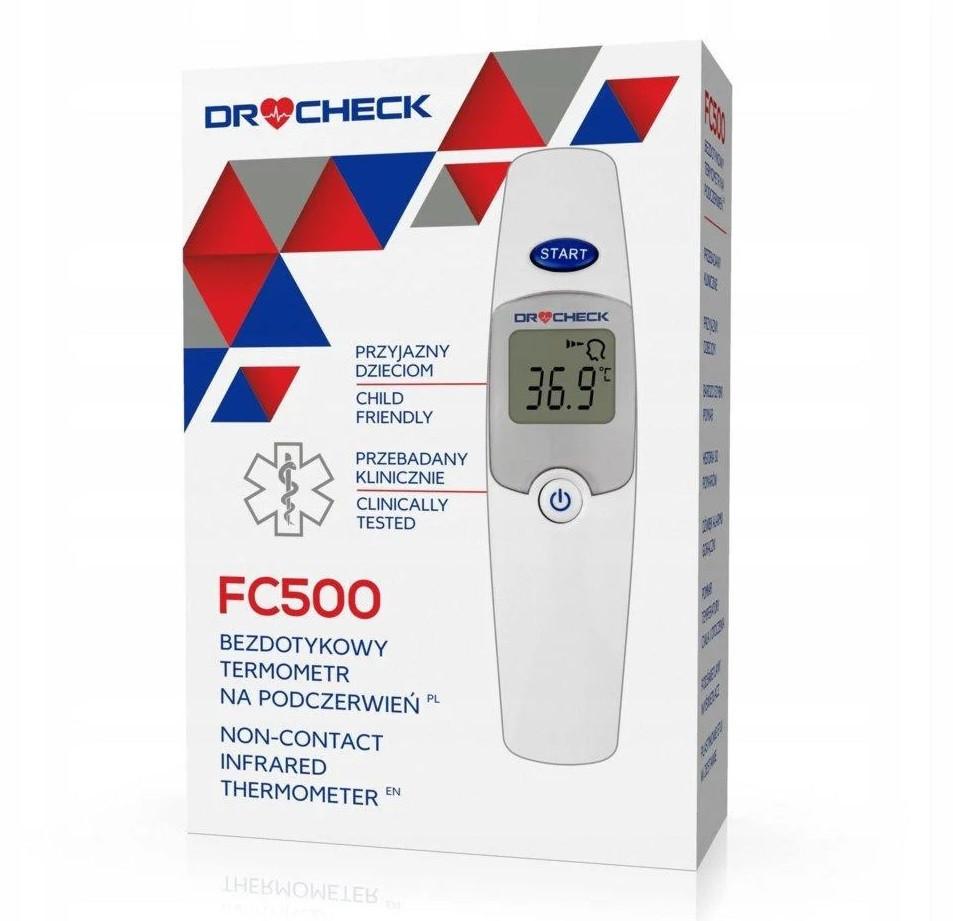 Термометр-пирометр бесконтактный DR CHECK FC 500  для тела ( 34.0- 42,2 ℃), предметов (0 + 100℃), Польша