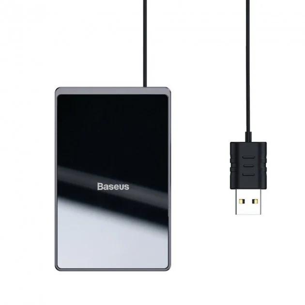 Зарядка для телефона беспроводная Baseus Card Ultra-thin WX01B-01, черная