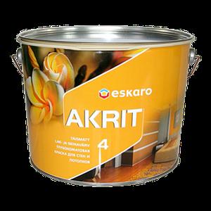 Eskaro Akrit 4 Глубокоматовая акрилатная краска для стен и потолков
