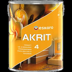 Eskaro Akrit 4 Глубокоматовая акрилатная краска для стен и потолков 2.85