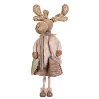 """Фигура """"Большой олень девочка"""" для новогоднего декора 55х16 см (стоит на ножках), фото 1"""