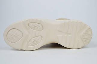 Ботинки бежевые Berkonty 5068 замша мех, фото 3