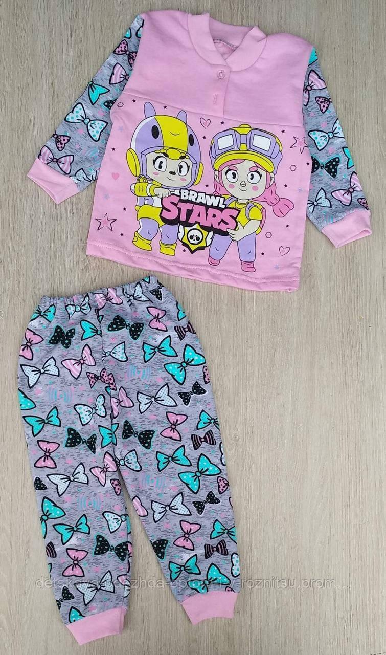 Пижама детская начес 26-34, stars brawl