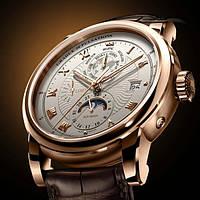 Мужские классические часы Lobinni Business с кожаным ремешком