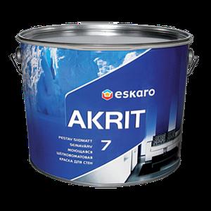 Eskaro Akrit 7 Моющаяся акрилатная шелково-матовая краска для стен