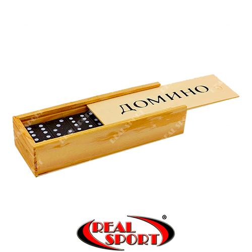Домино настольная игра в деревянной коробке IG-1850