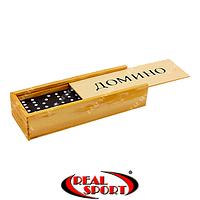 Домино настольная игра в деревянной коробке IG-1850, фото 1