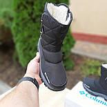 Женские зимние сапоги дутики Columbia с мехом черные с серым 36-41рр. Живое фото, фото 2