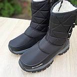 Женские зимние сапоги дутики Columbia с мехом черные с серым 36-41рр. Живое фото, фото 7