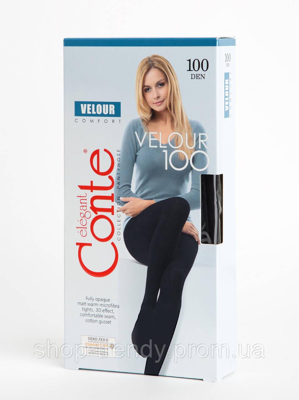 Матові колготки Velour 100 den Conte
