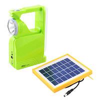Фонарь переносной Lux 2837 RT, 1W+34SMD, солнечная батарея, ЗУ 220V, встроенный аккумулятор, power bank, фото 1
