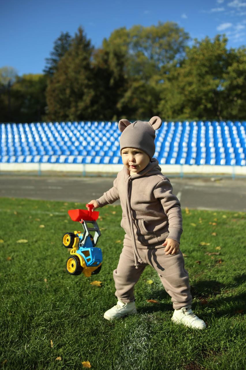 Дитячий теплий трикотажний костюм Markin кавовий (511)