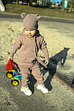 Дитячий теплий трикотажний костюм Markin кавовий (511), фото 3