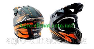 Кросовий мотошолом Ендуро 806 Orange Matt Dazing S/M