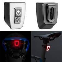 Фонарь велосипедный габаритный T11-15LED, ЗУ micro USB, встроенный аккумулятор, влагозащита IPx5, фото 1