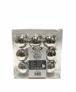 Набор новогодних елочных игрушек Xmas baubles 9 шт.