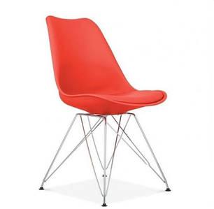 Стул Тауэр С, пластик, мягкая подушка, цвет красный